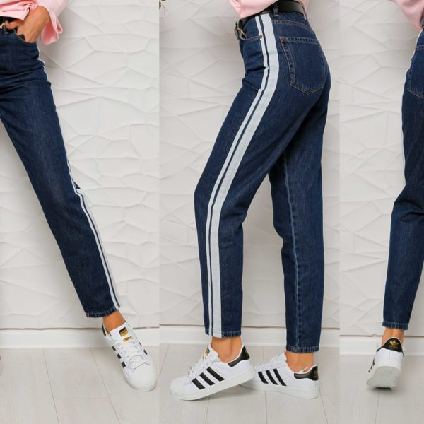 джинсы с лампасами