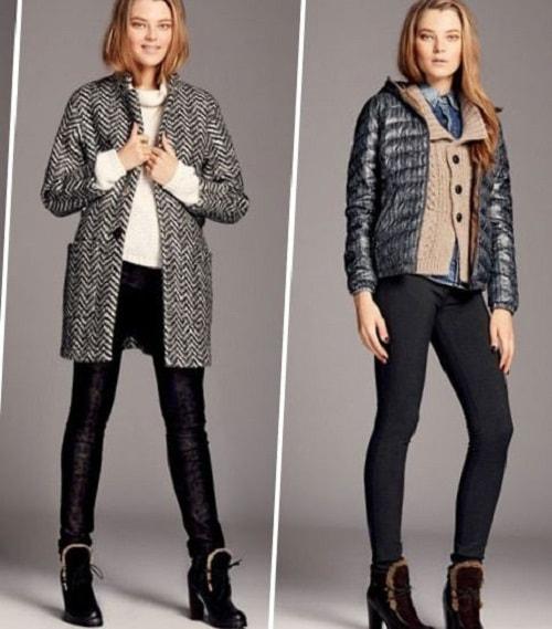 девушки в пальто и пиджаке