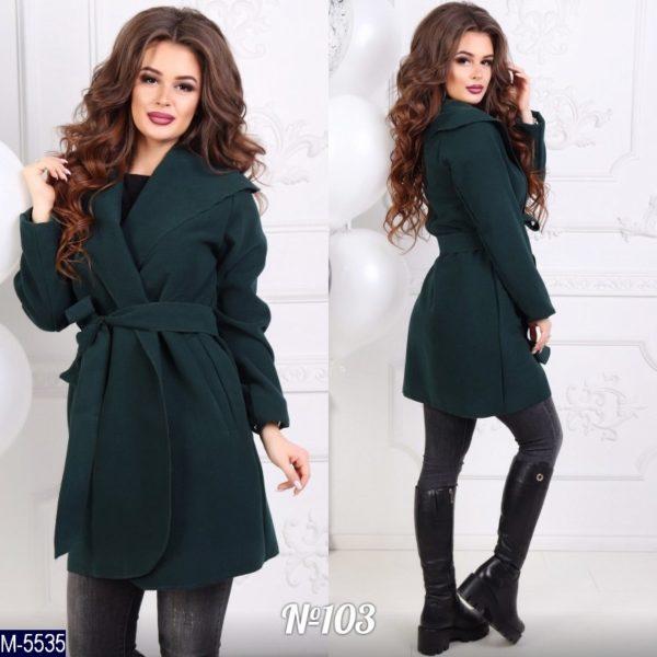 женское пальто с поясом