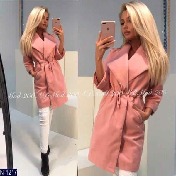 розовое легкое пальто