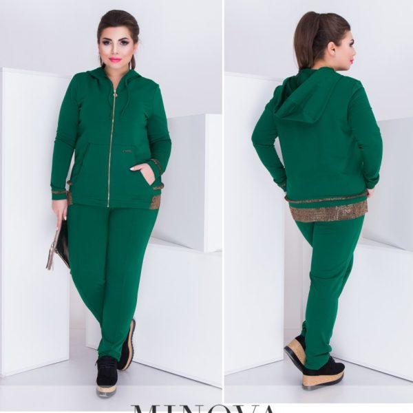 костюм зеленый женский