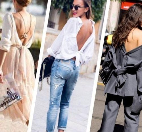 девушки в одежде с открытыми спинами