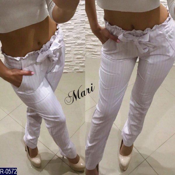 брюки в полоску