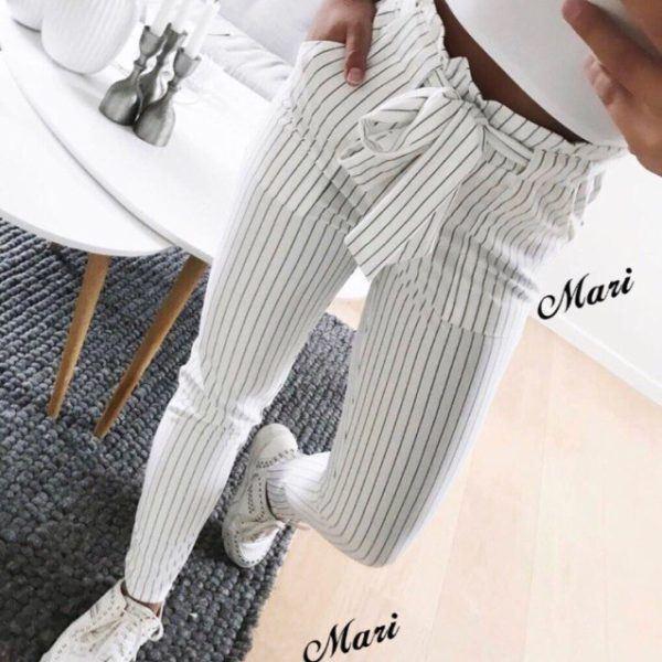 белые летние женские брюки