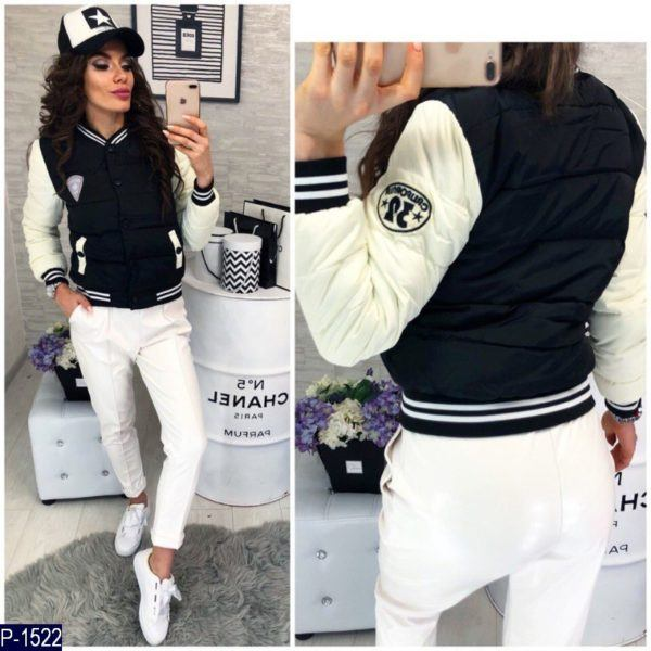 черно белая куртка