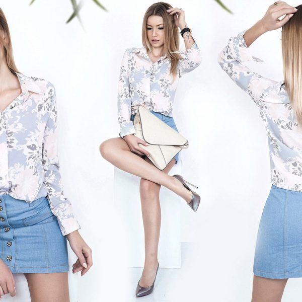 светлая летняя блузка