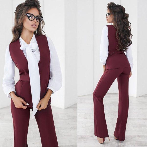 брюки женские с жилеткой