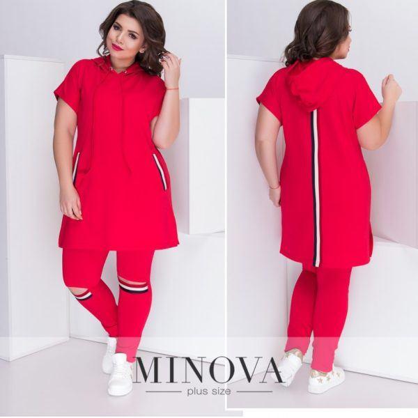 красный спортивный костюм большие размеры