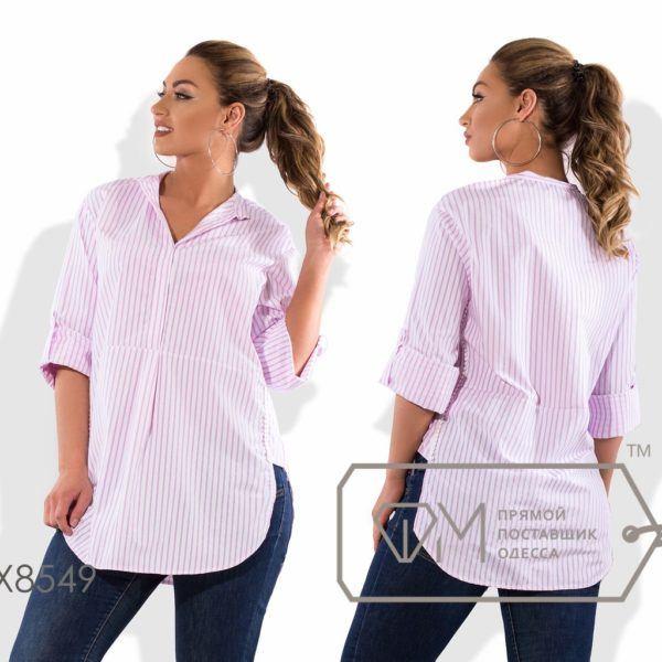 Удлиненная рубашка в полоску