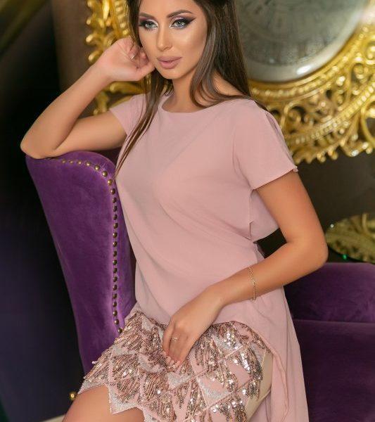 красивое короткое шифоновое платье