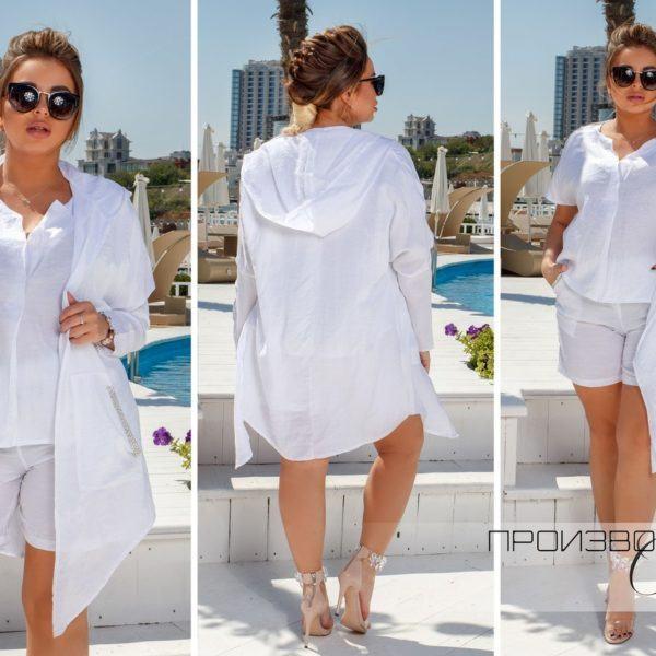 белый костюм с шортами