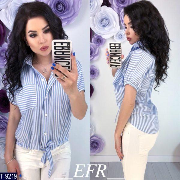 блузка с завязками снизу