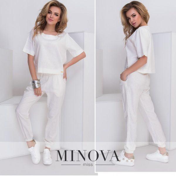белый костюм из льна