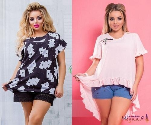 женщины в шортах и блузках
