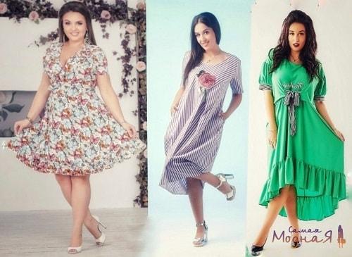 женщины размеров pluse size в летних платьях
