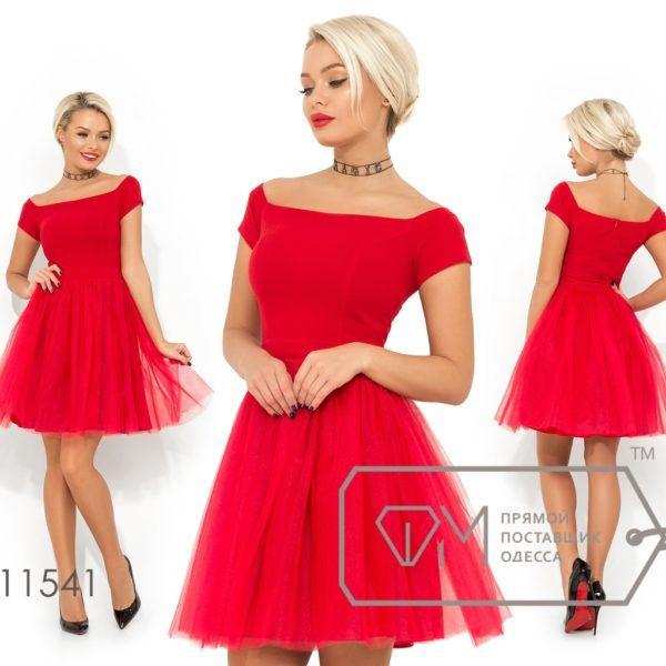 Красивое платье с фатиновой юбкой