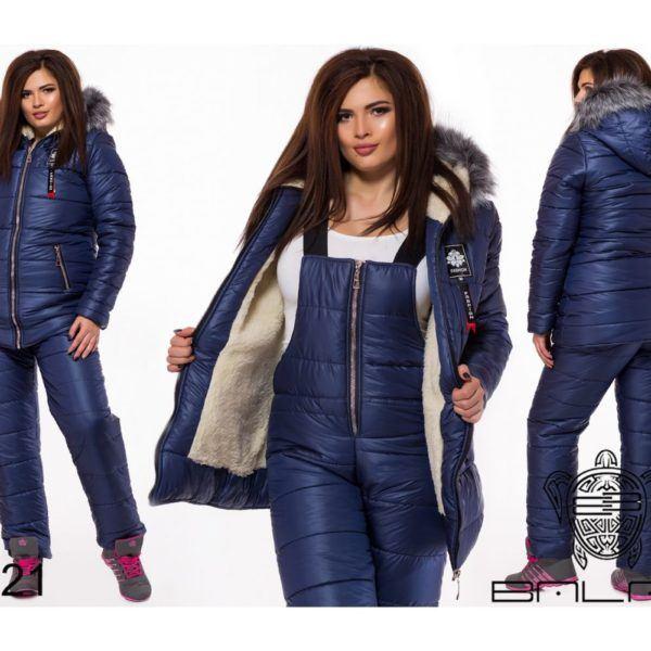Теплый комбинезон с курткой