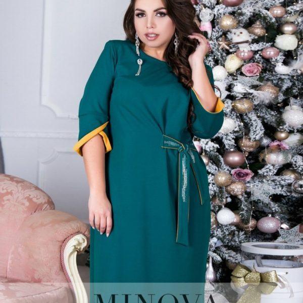 зеленое красивое платье