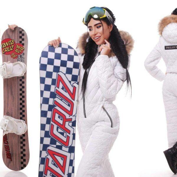 белый лыжный комбинезон
