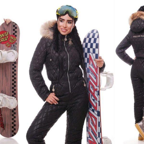 черный комбинезон лыжный