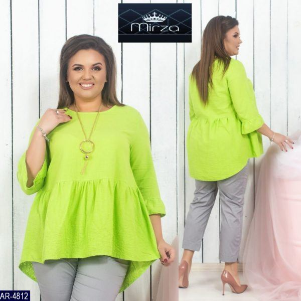 Расклешенная легкая блузка