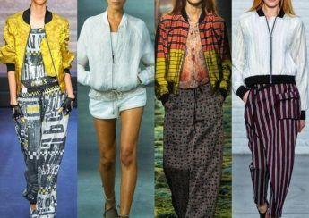 девушки в широких летних брюках