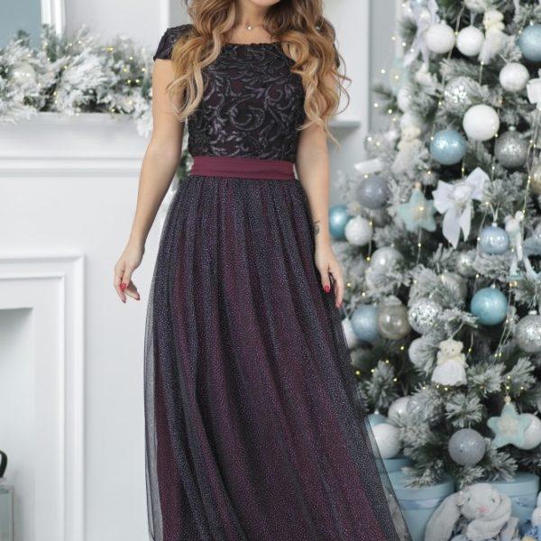 шикарное платье с длинной юбкой