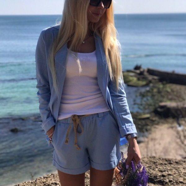 Летние шорты с пиджаком
