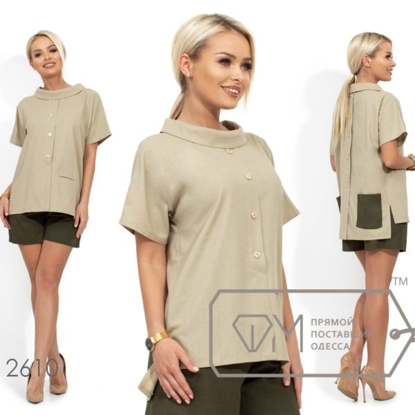 Удлиненная блузка с шортами