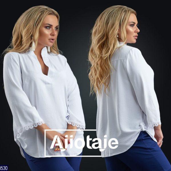 белая блузка на большие размеры
