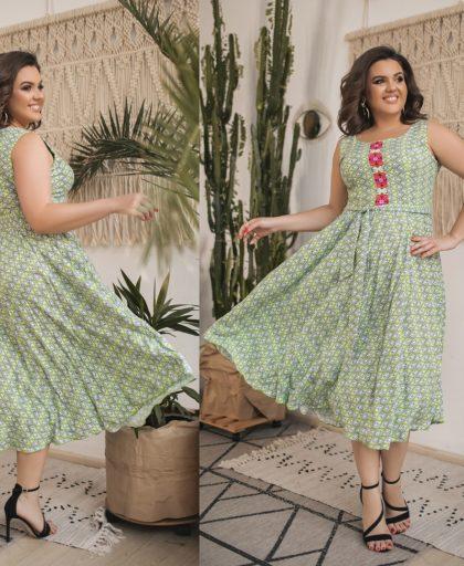 Красивое летнее расклешенное платье