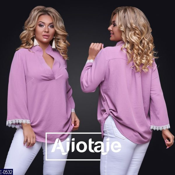 розовая свободная блузка