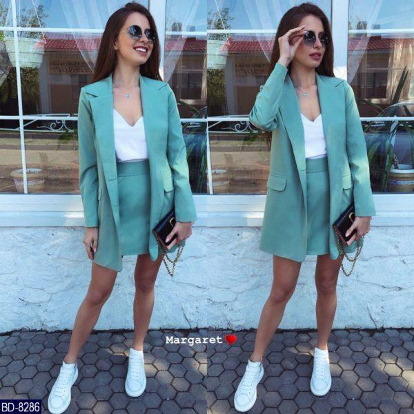Юбка с удлиненным пиджаком