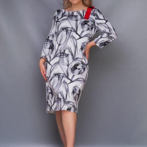 Красивое женское платье с принтом
