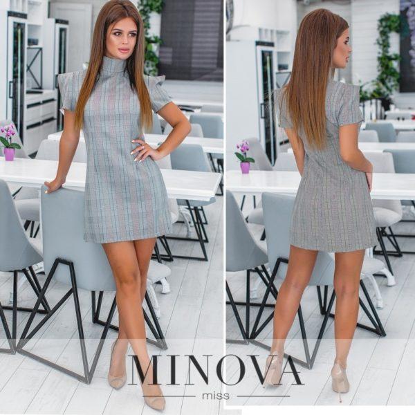 деловое серое платье