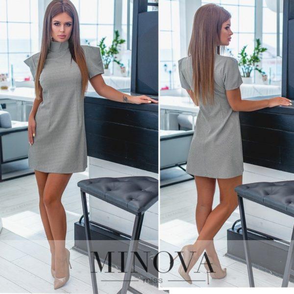 простое серое платье