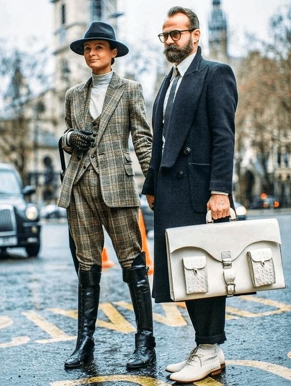мужчина и стильная женщина