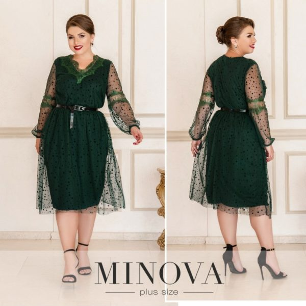 зеленое вечернее платье