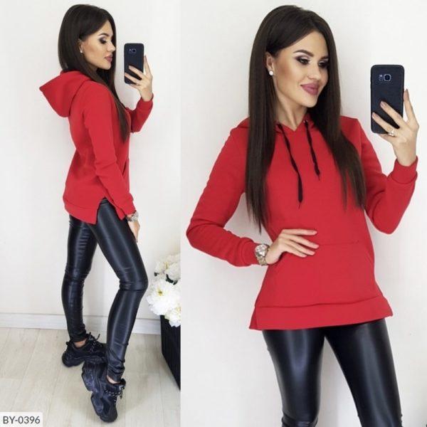 красная кофта с брюками