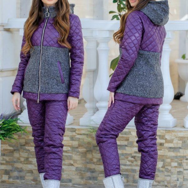 фиолетовый зимний костюм