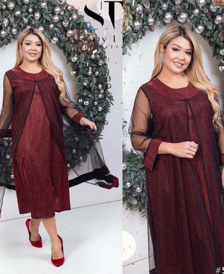 новогоднее платье больших размеров